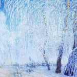 Серебристым легким снегом