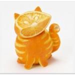 прикольный апельсиновый котейка…