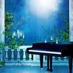 Представт меня сидящим за роялем,