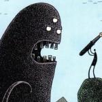 Редкий сюжет: писатель отбивается от придуманного им монстра
