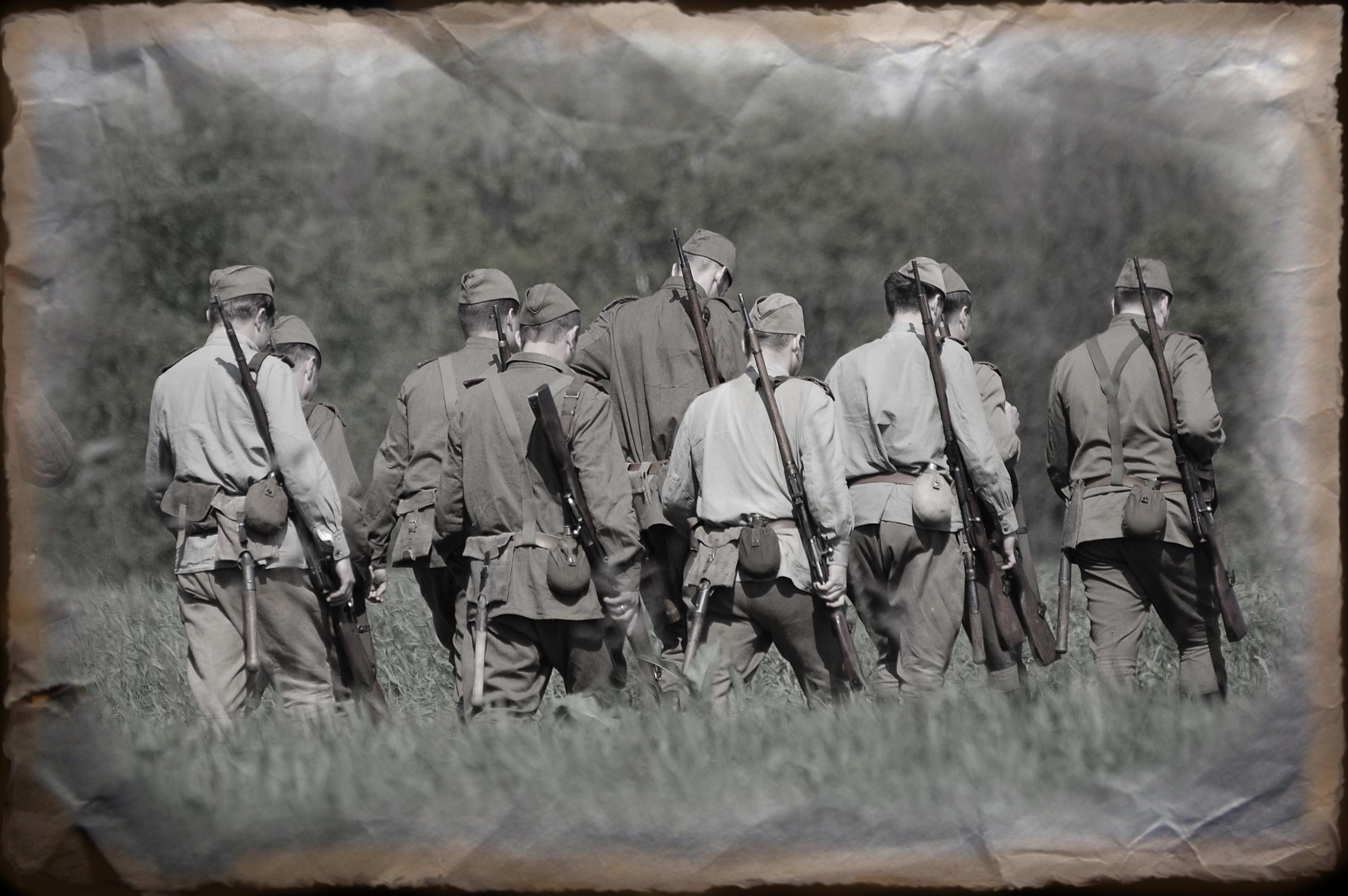 Солдаты Великой Отечественной войны, фото