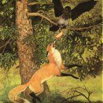 Герои басни Крылова ворона и лисица