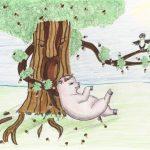 Иллюстрация к басне Крылова про свинью