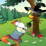 Ворона и лисица из Басни Крылова