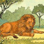 """Басня """"Лев на ловле"""""""